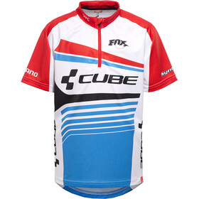 Cube Teamline Trikot kurzarm Kinder white'n'blue'n'red